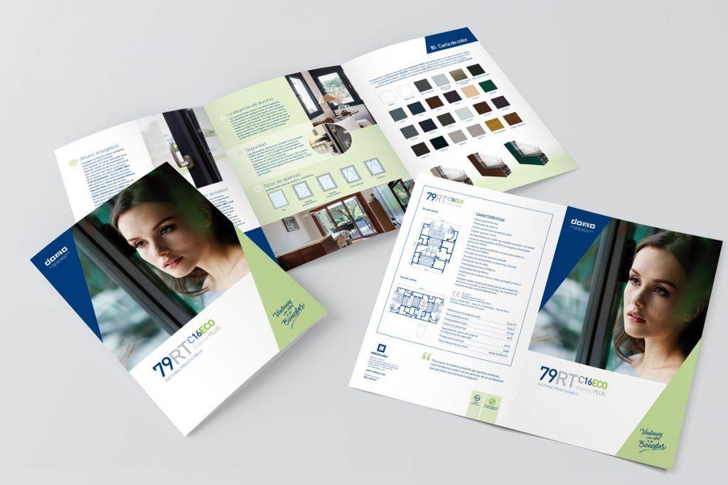 diseño y maquetación de trípticos publicitarios de productos